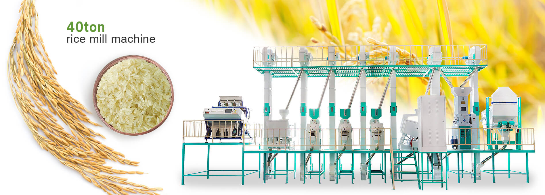 38ton rice mill production line