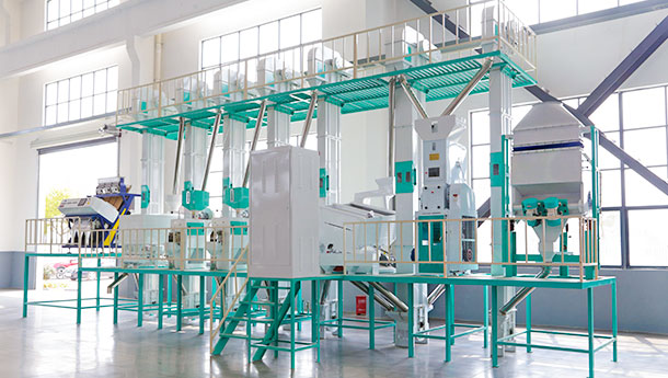 Rice mill production line