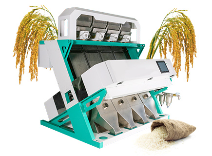 4 channel rice color sorter machine