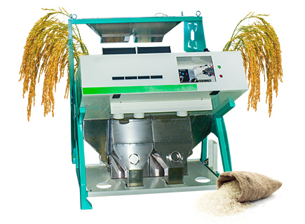 6 channels rice color sorter machine