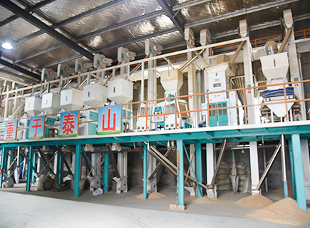 100ton rice mill production line