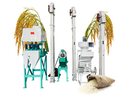 500kg/h rice mill production line