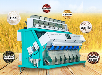 rice color sorter in rice mill plant-vos