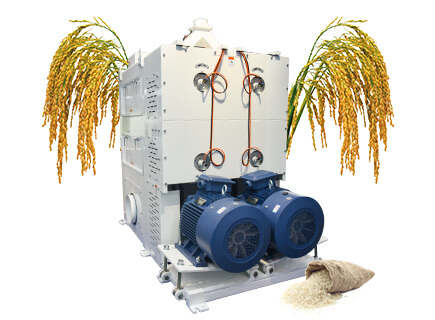 rice polisher in rice processing plant