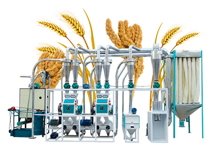Corn maize flour making machine